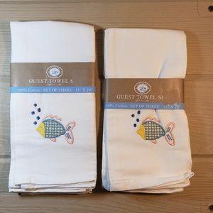 Nantucket Home Guest Towels (2 Sets) NWT